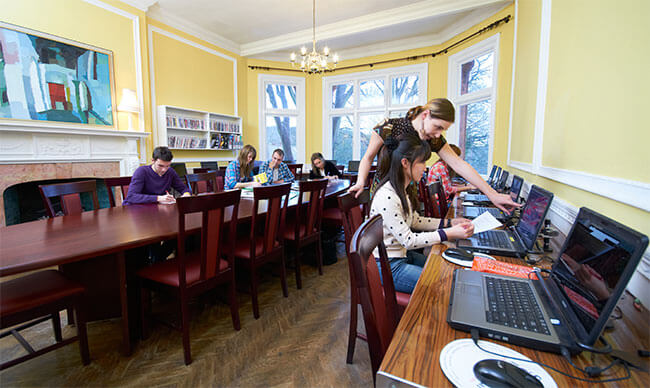 Self-access study centre at St Giles Highgate